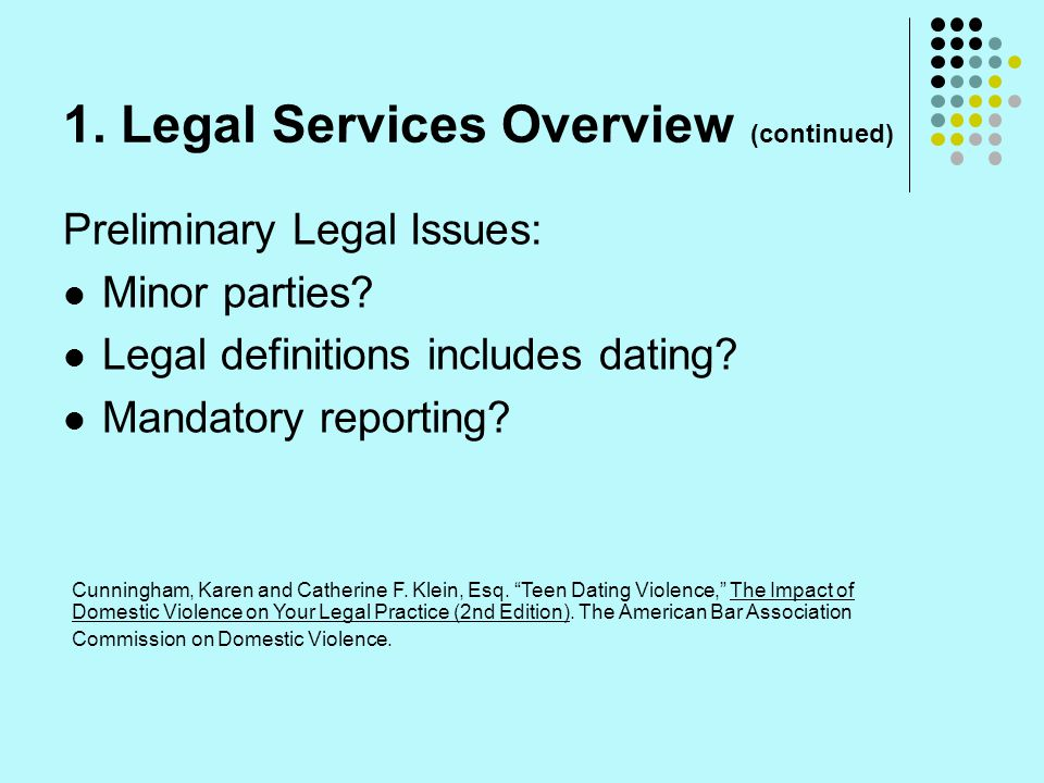 1. Legal Services Overview (continued)