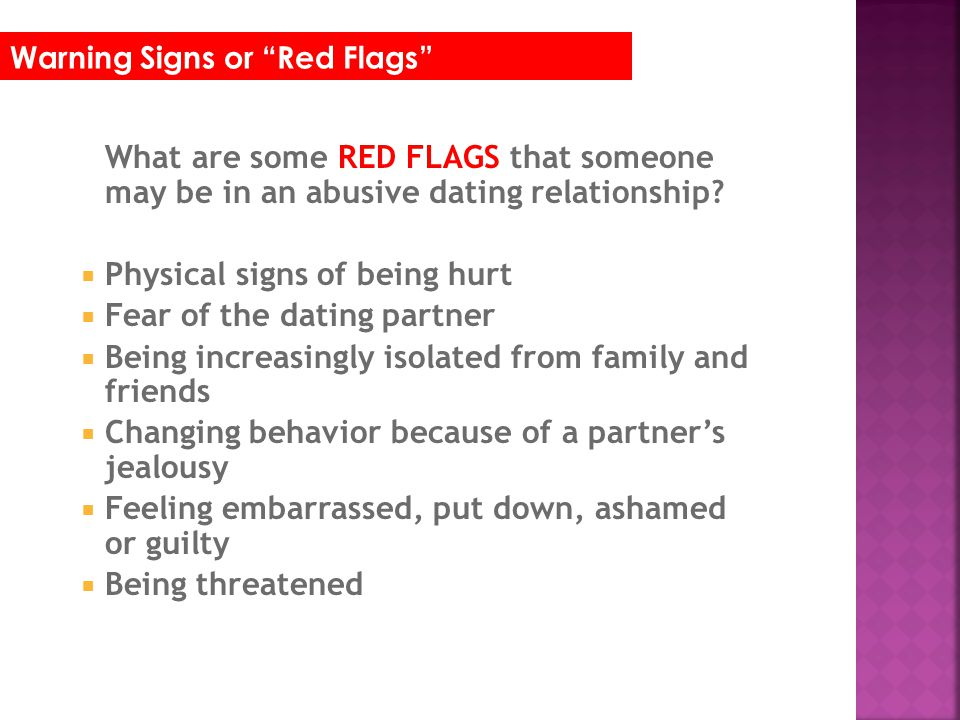 Warning signs of dating an abuser