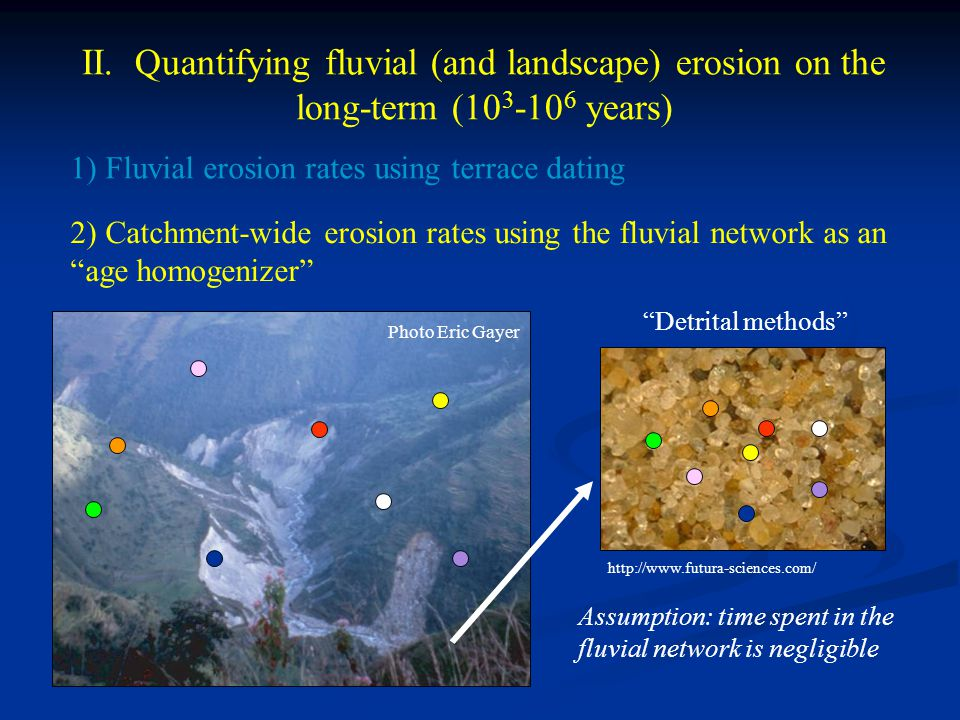 II. Quantifying fluvial (and landscape) erosion on the long-term (103-106 years)