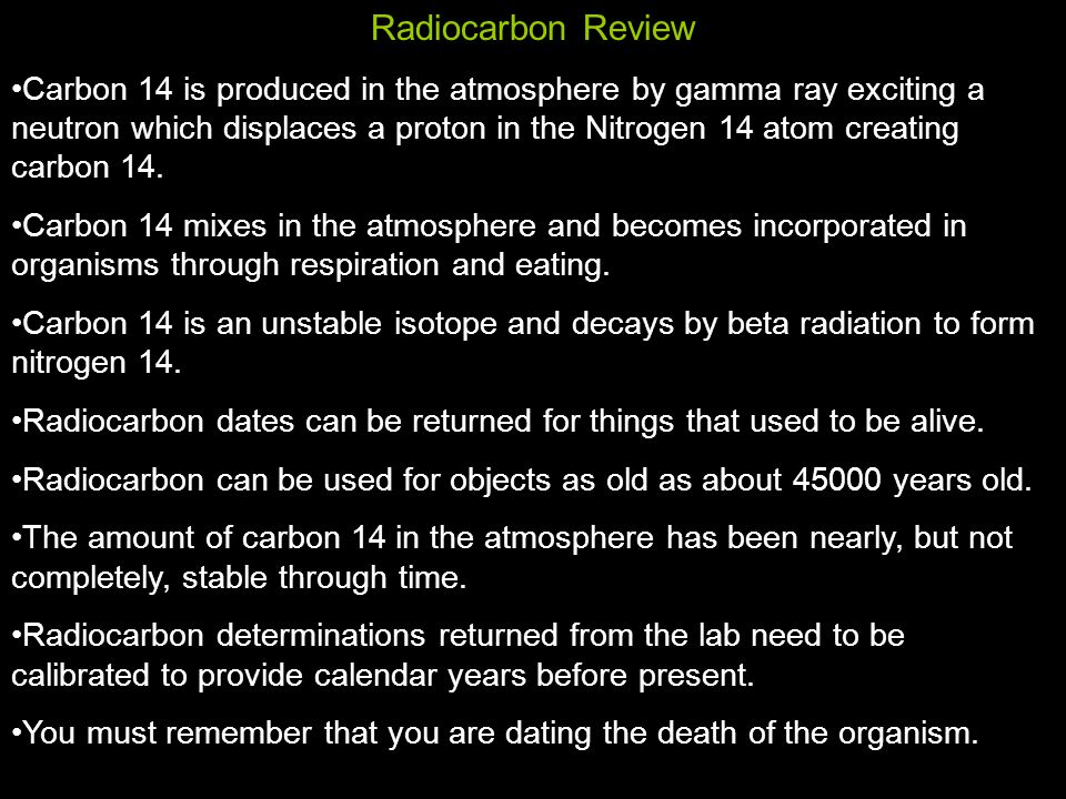 Radiocarbon Review