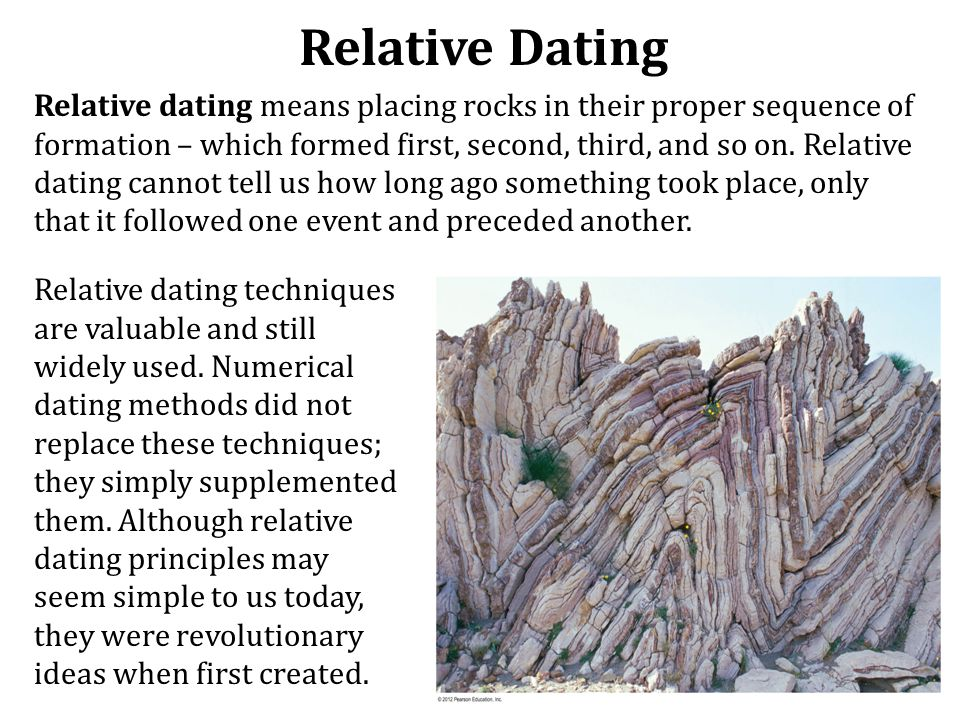 What techniques do relative dating used to place fossils