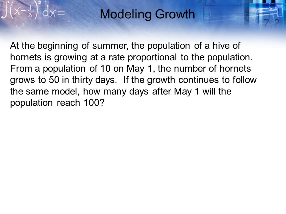 Modeling Growth