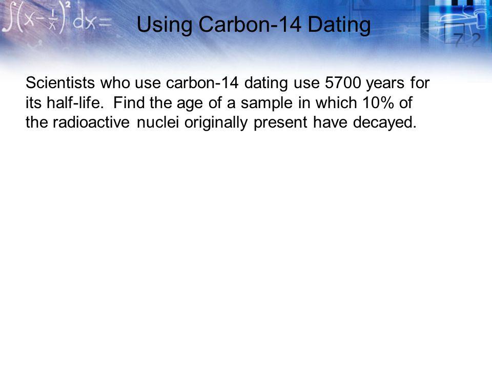 Carbon dating formel algebra