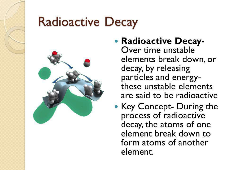 What is the concept of radioactive dating