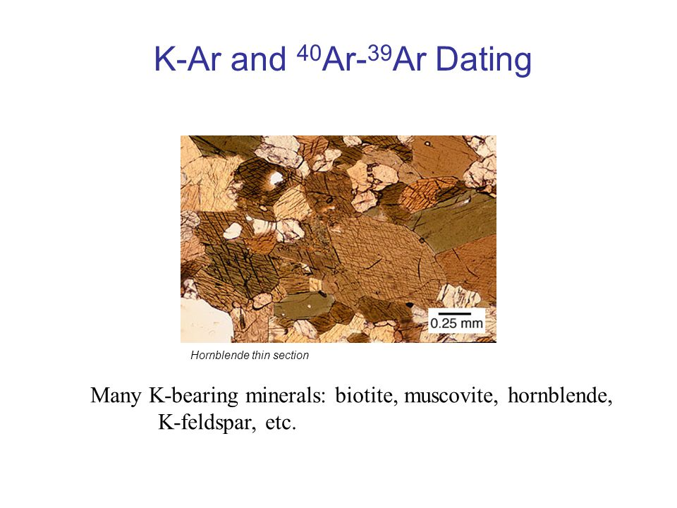 K-ar dating metod PPT