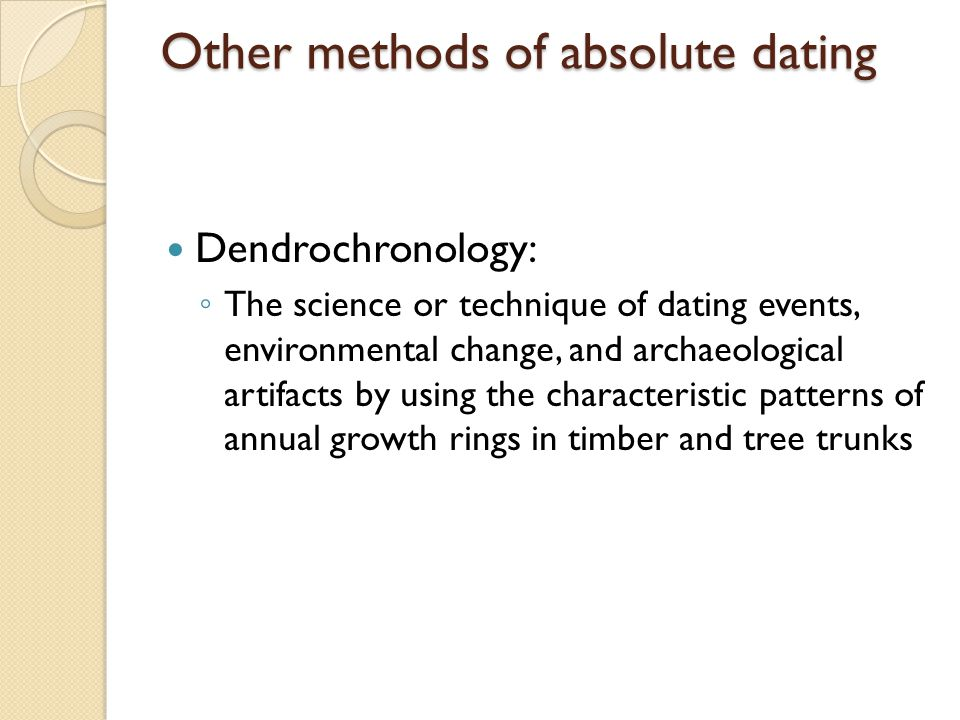 Other methods of absolute dating