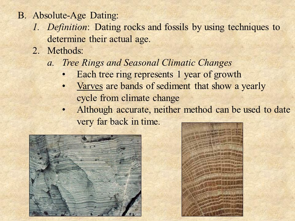 B. Absolute-Age Dating: