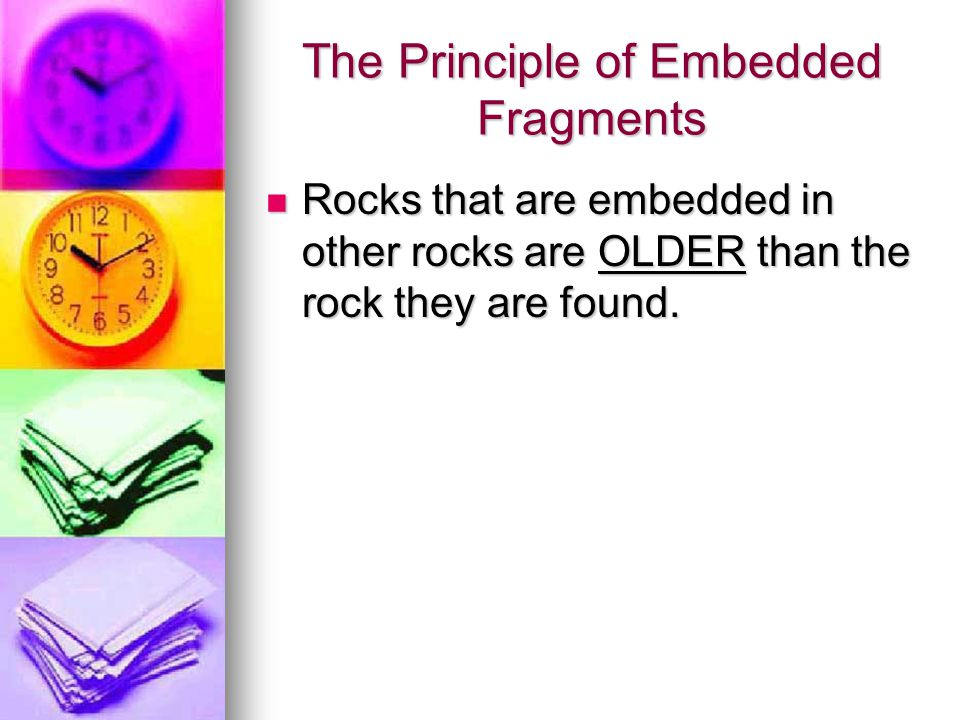 The Principle of Embedded Fragments