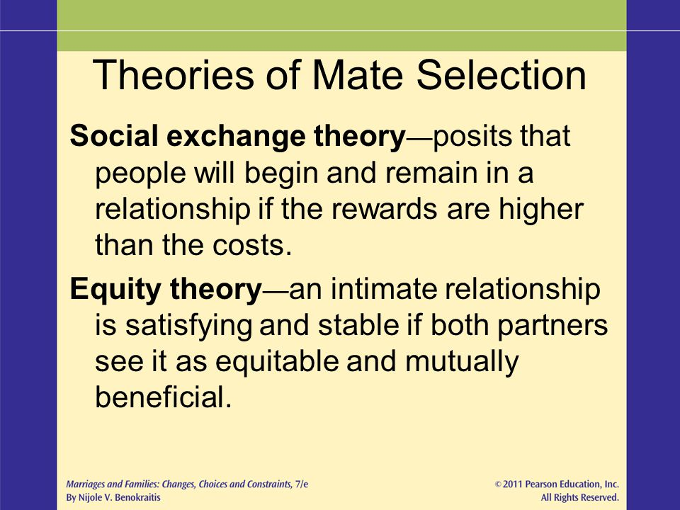 Theories of Mate Selection
