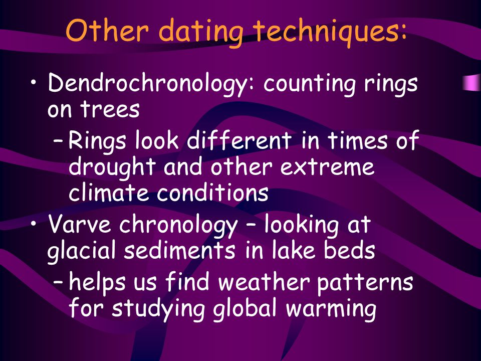 Other dating techniques: