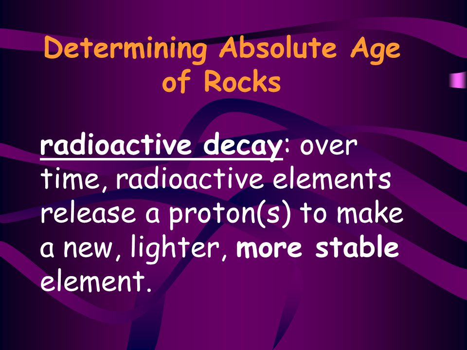 Determining Absolute Age of Rocks