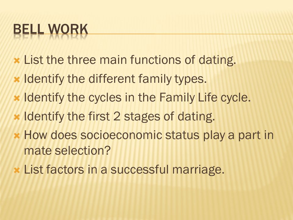 Stages from dating to marriage