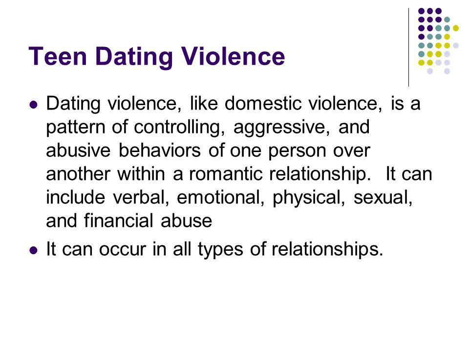 Pattern of dating abuse