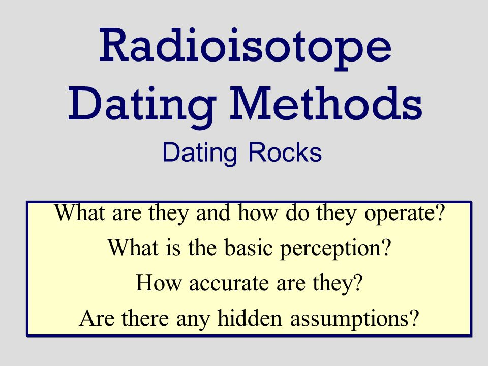 Radioisotopic dating method