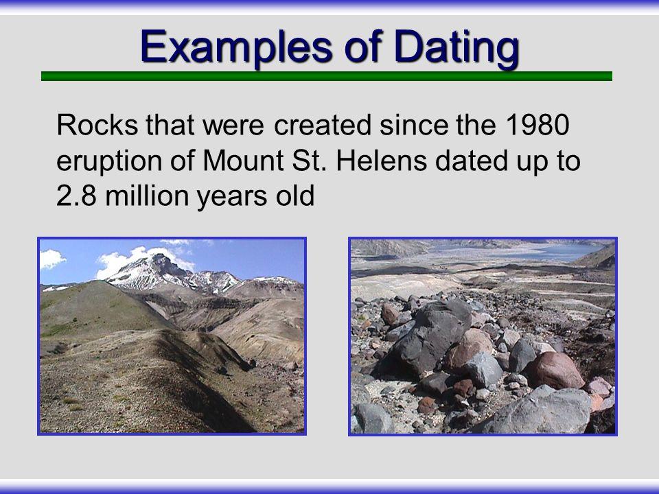Mt. st. helens udbrud carbon dating