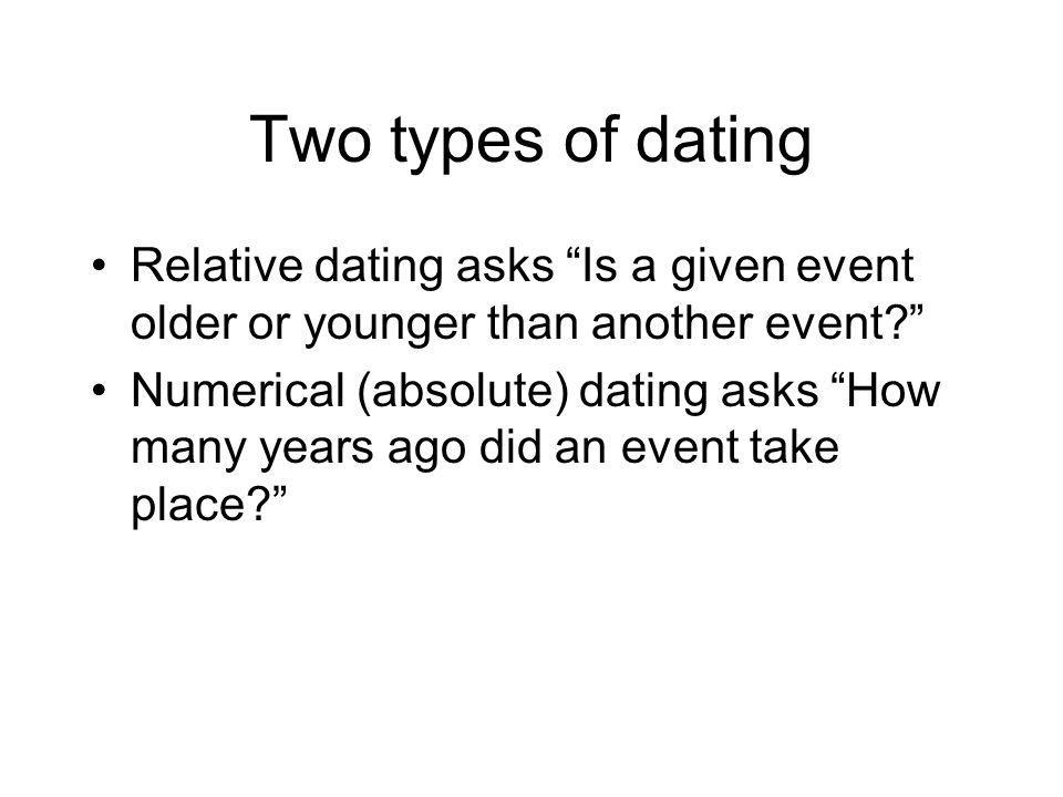 two types of dating techniques
