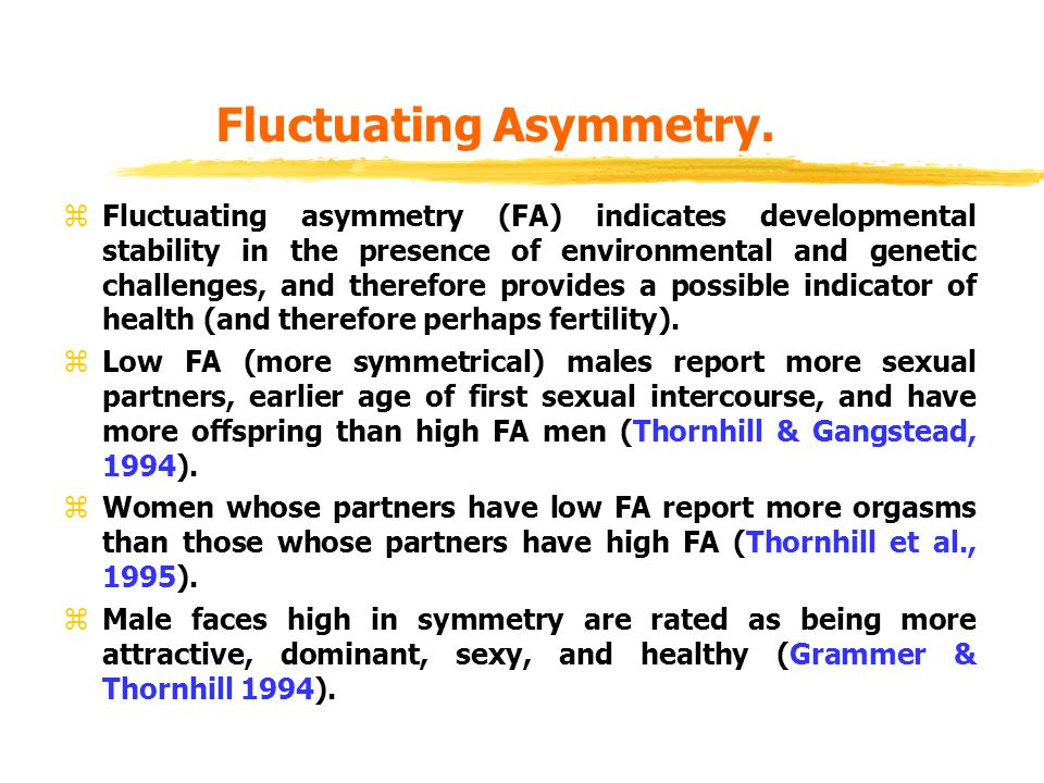 Fluctuating Asymmetry.