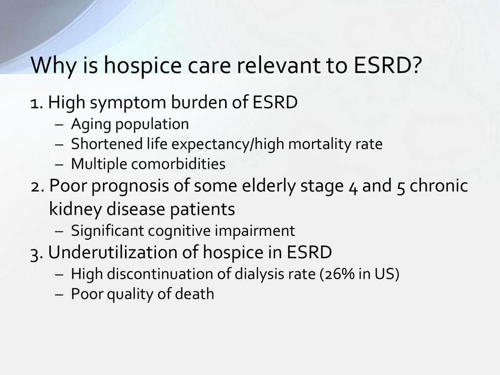 Coordination Of Hospice And Palliative Care In Esrd Ppt Download