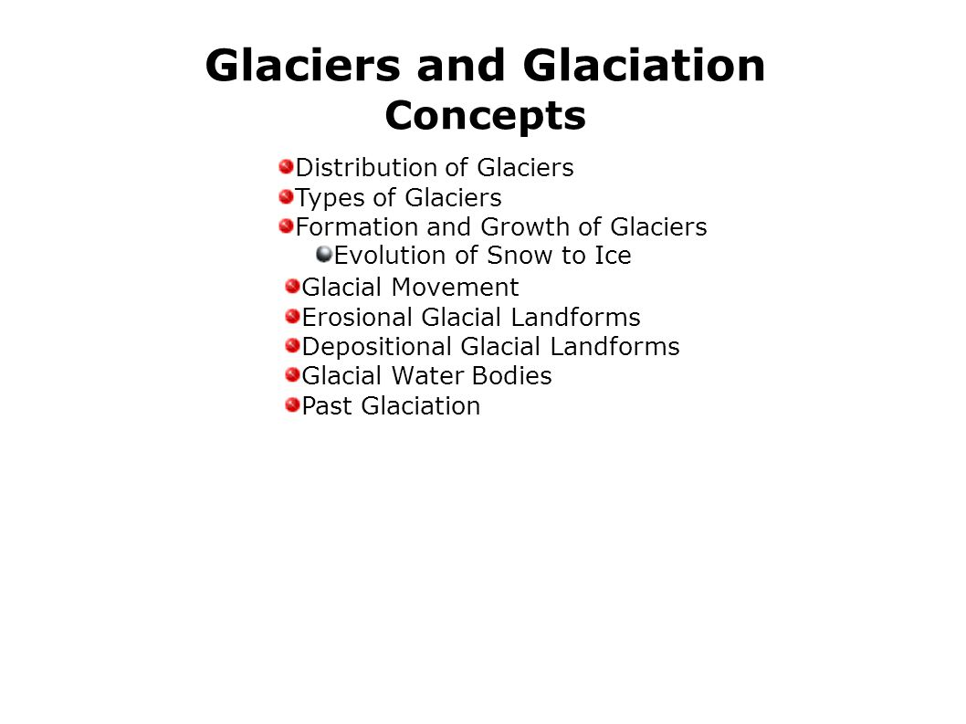 Glaciers and Glaciation Concepts