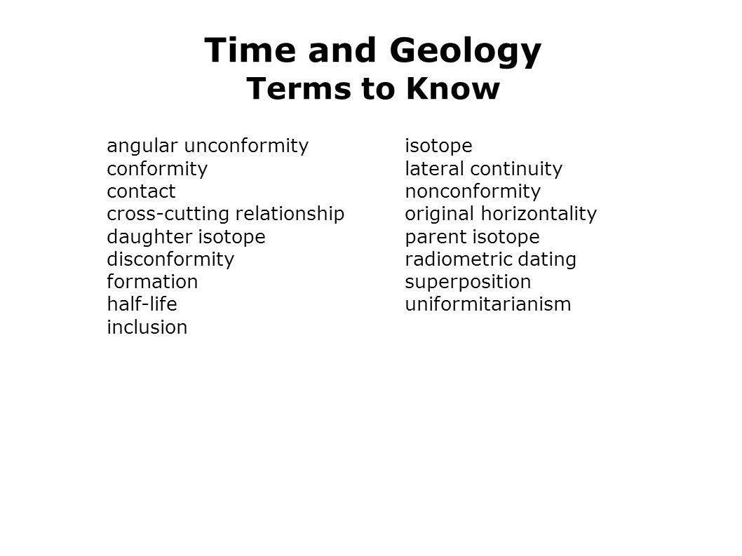 Time and Geology Terms to Know