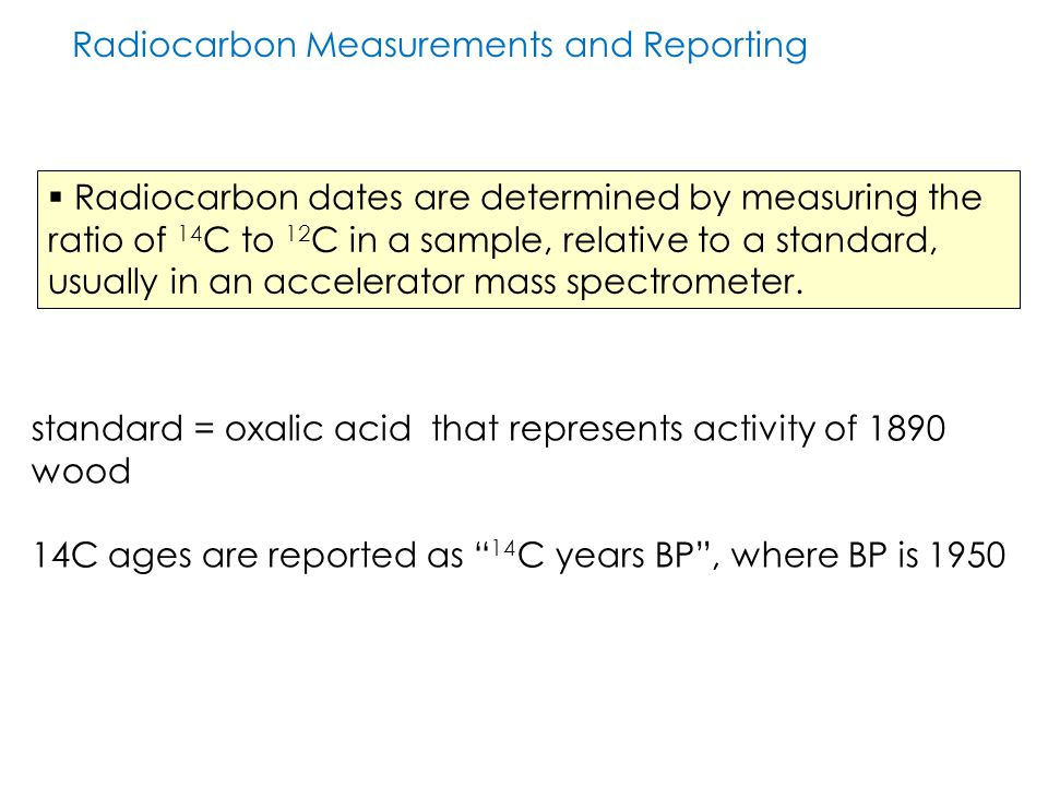 Radiocarbon Measurements and Reporting