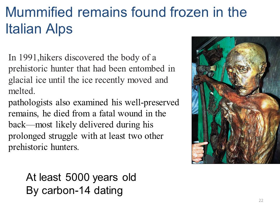 Mummified remains found frozen in the Italian Alps