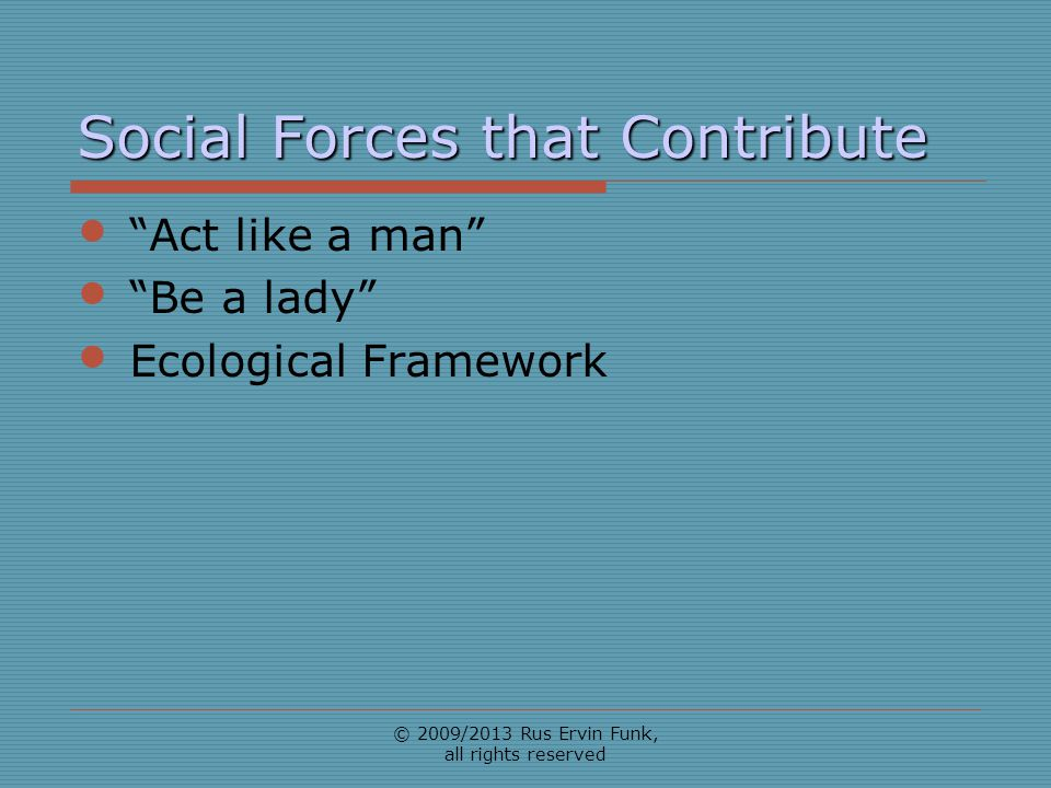 Social Forces that Contribute
