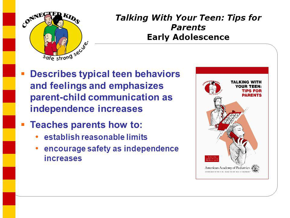 Talking With Your Teen: Tips for Parents