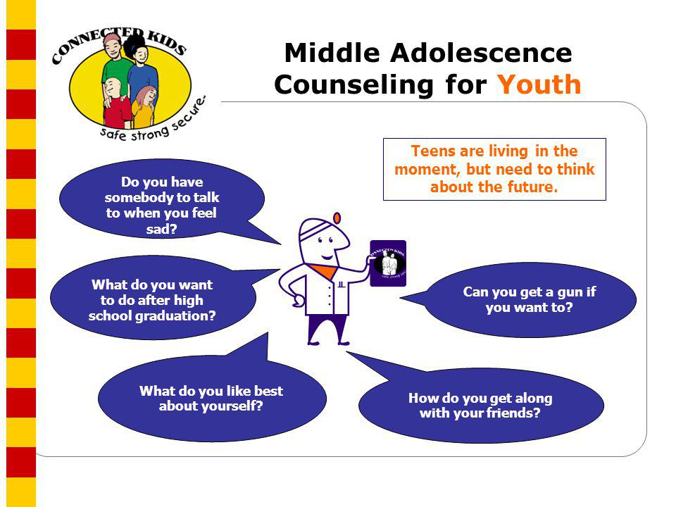 Middle Adolescence Counseling for Youth