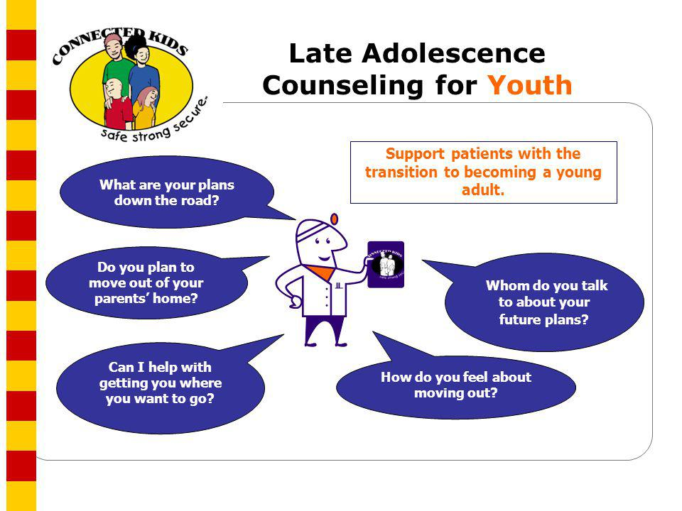 Late Adolescence Counseling for Youth