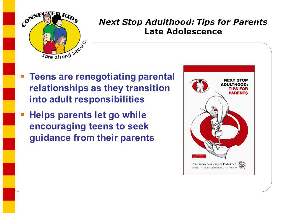 Next Stop Adulthood: Tips for Parents