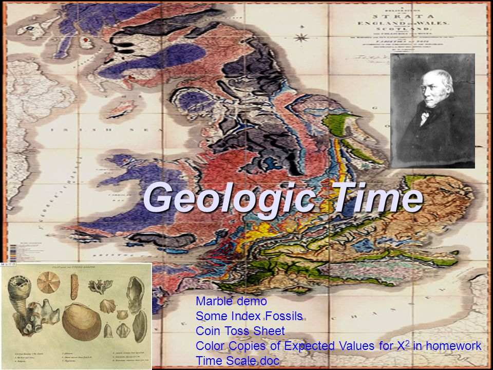 Geologic Time Marble demo Some Index Fossils Coin Toss Sheet