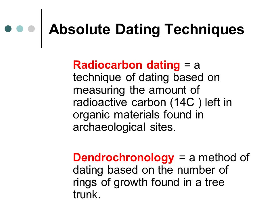 Absolute age dating methods used in archaeology