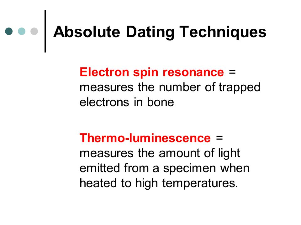 trapped electron dating