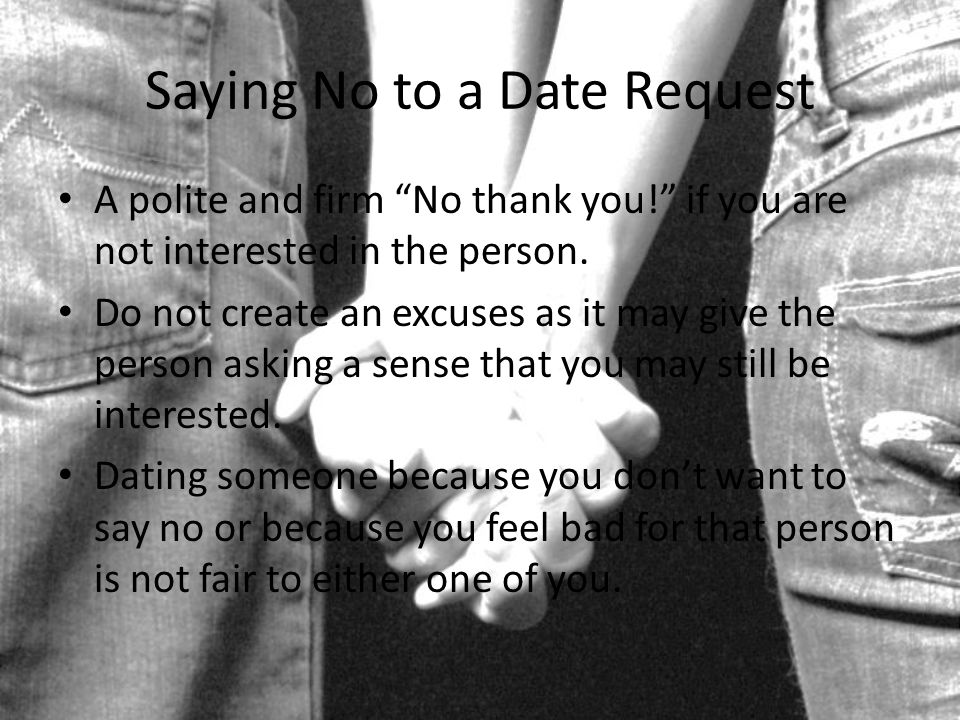 How to politely say no to a date