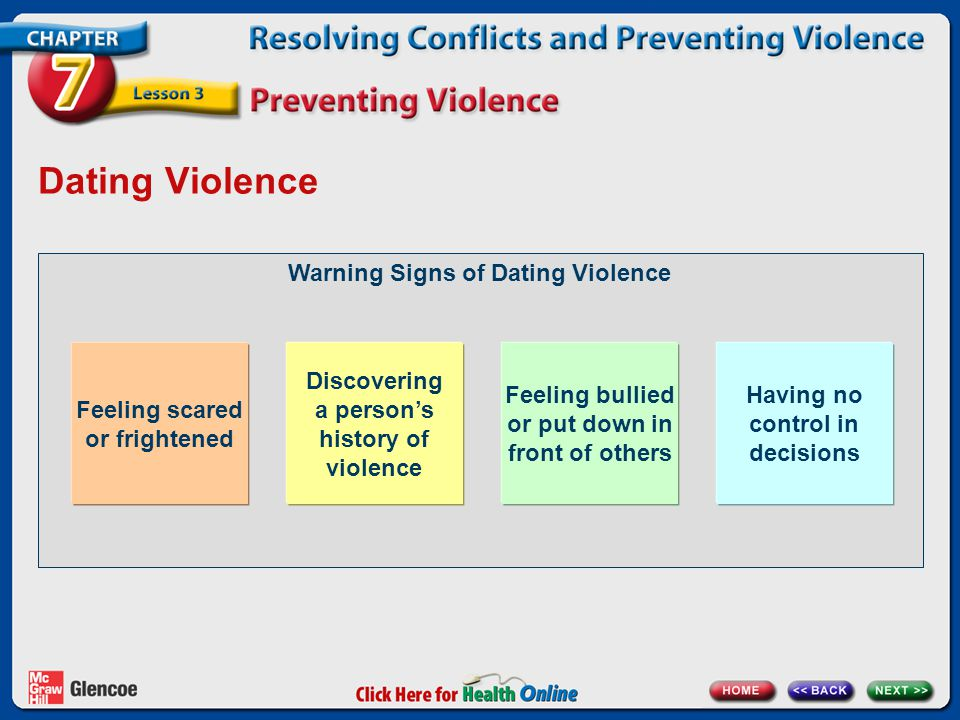 Dating Violence Warning Signs of Dating Violence