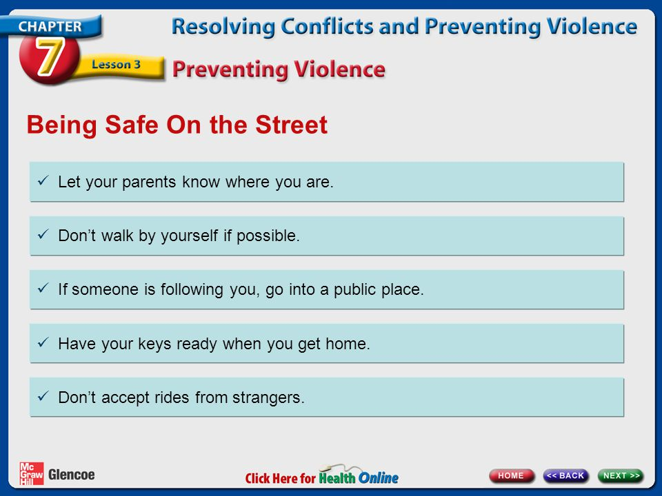 Being Safe On the Street