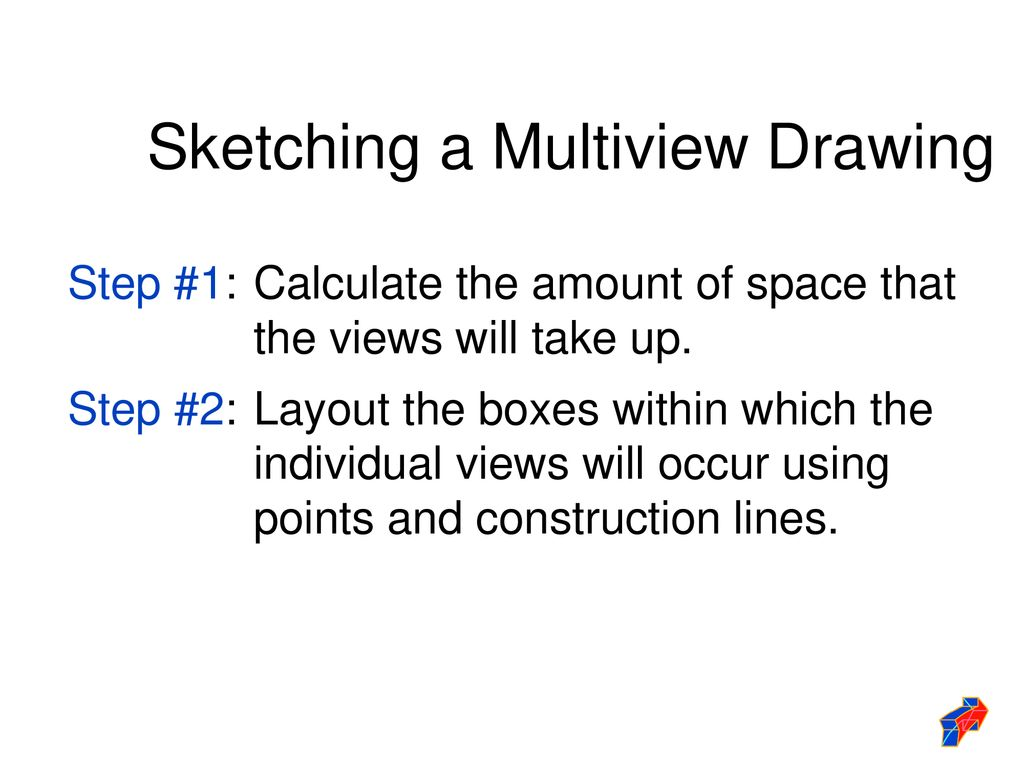 Sketching a Multiview Drawing