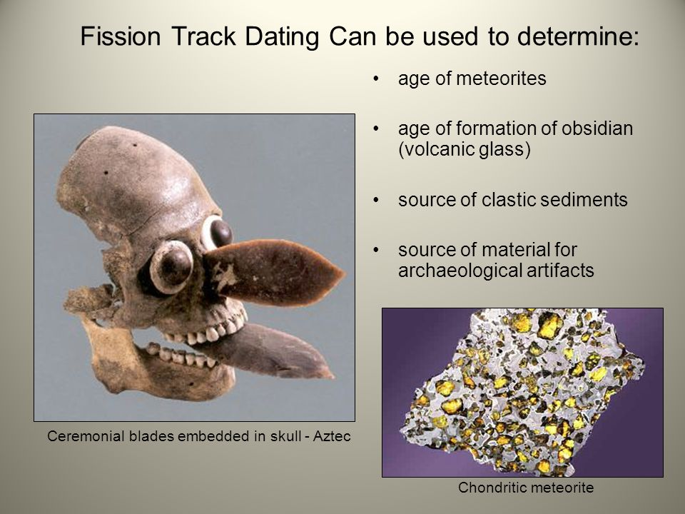 fission track dating meteorites