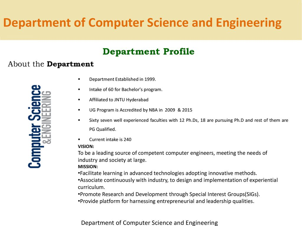 DEPARTMENT OF COMPUTER SCIENCE AND ENGINEERING - ppt download