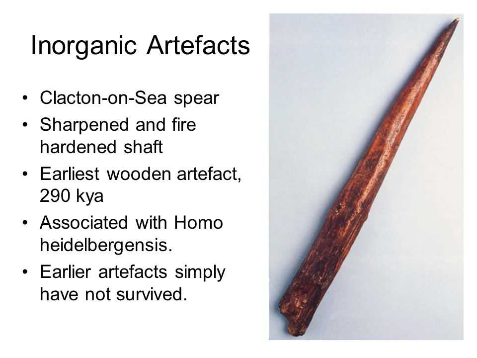 Inorganic Artefacts Clacton-on-Sea spear
