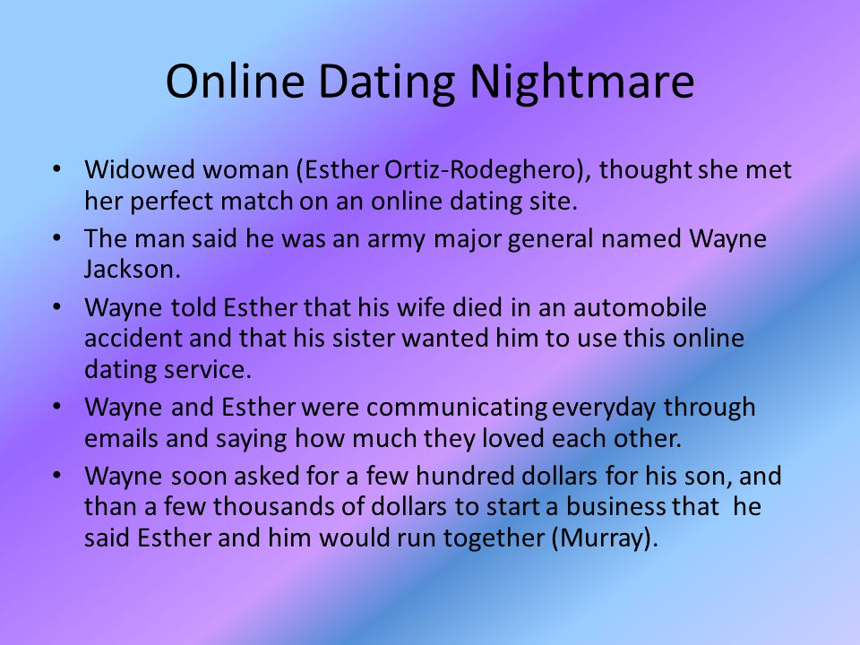 Online Dating Nightmare