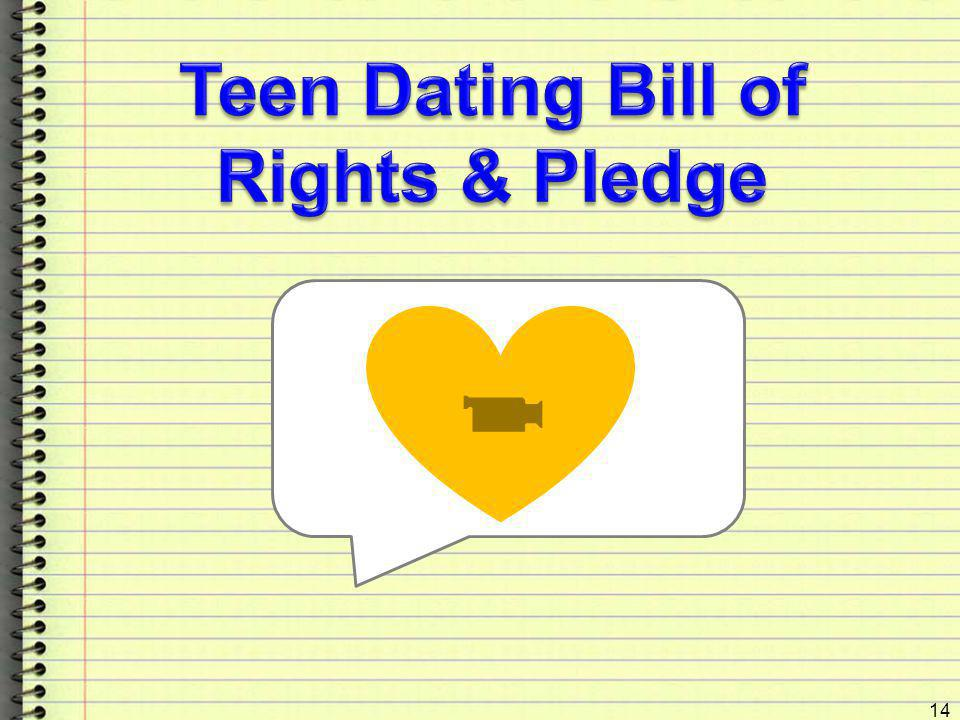 Teen Dating Bill of Rights & Pledge