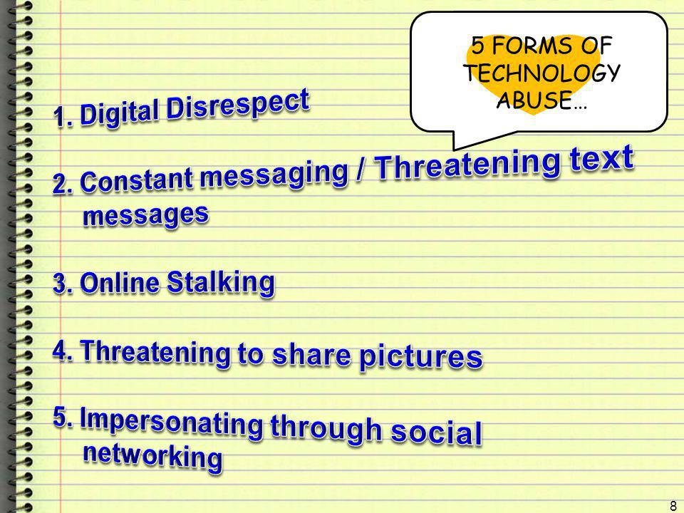 5 FORMS OF TECHNOLOGY ABUSE…