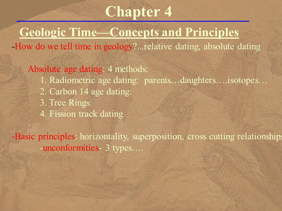 Geologic Time—Concepts and Principles