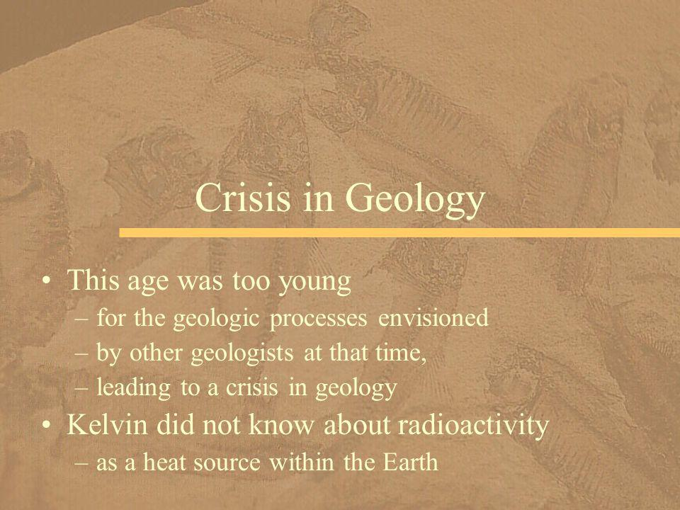 Crisis in Geology This age was too young