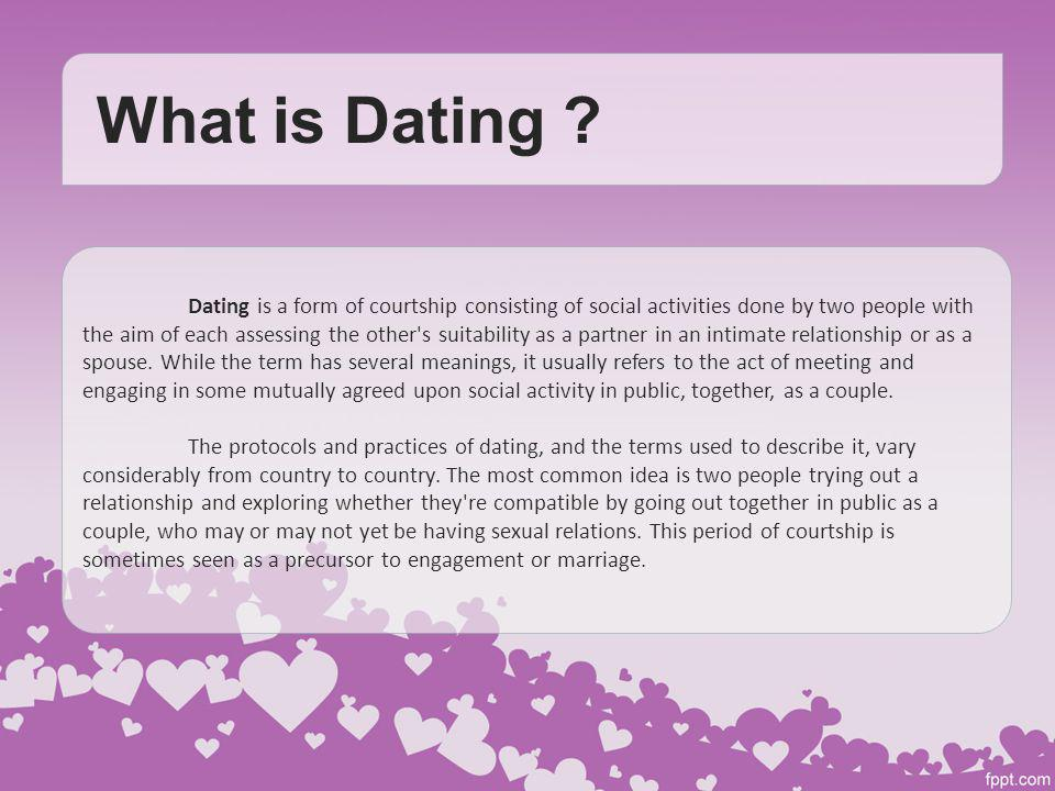 what is the term dating