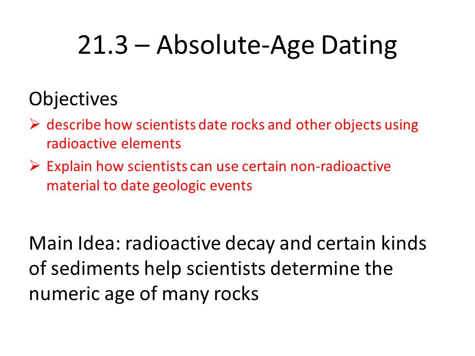 radiometric and absolute rock dating