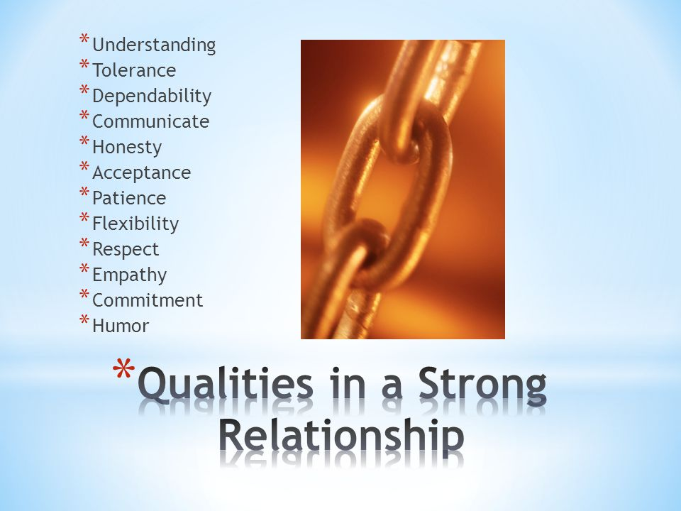 Qualities in a Strong Relationship