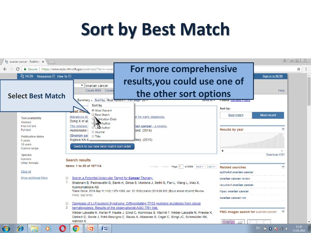 How to Search in PubMed and ESGO Journal - ppt download